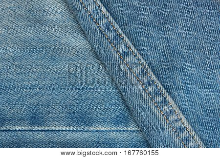 Blue Jeans Surface With Stiches