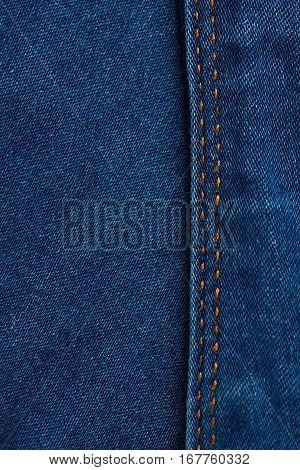 Vertical Dark Blue Jeans