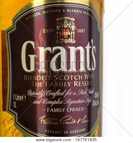 Grants Blended Whiskey Isolated On White