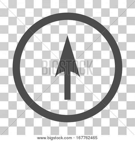Arrow Axis Y rounded icon. Vector illustration style is flat iconic symbol inside a circle, gray color, transparent background. Designed for web and software interfaces.