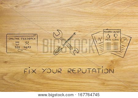 Fixing Your Reputation, Survey Docs With Wrench & Screwdriver