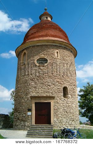 Photo of a romanesque rotunda of St.George in Skalica