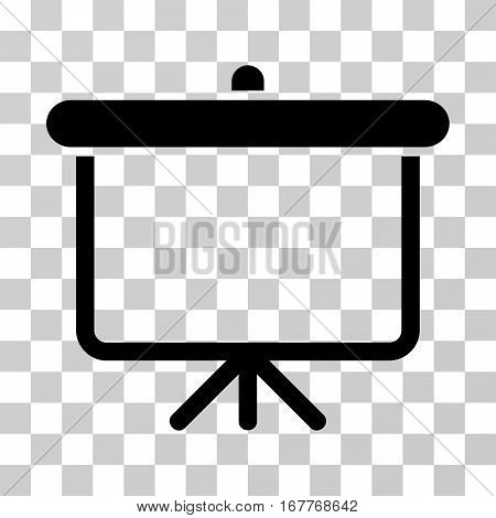 Projection Board icon. Vector illustration style is flat iconic symbol, black color, transparent background. Designed for web and software interfaces.