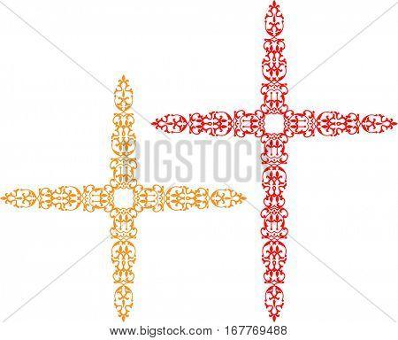 Christian Cross Design Vector Art