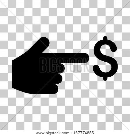 Dollar Index icon. Vector illustration style is flat iconic symbol, black color, transparent background. Designed for web and software interfaces.