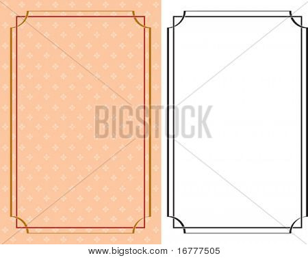 Border, Frame Design abstract background