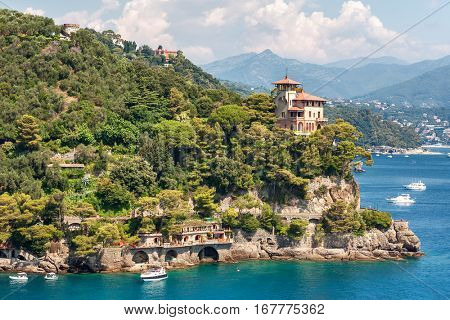 Beautiful house on the cape near Portofino in Italy.