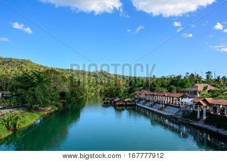 Loboc River in the jungle, Bohol Island Philippines