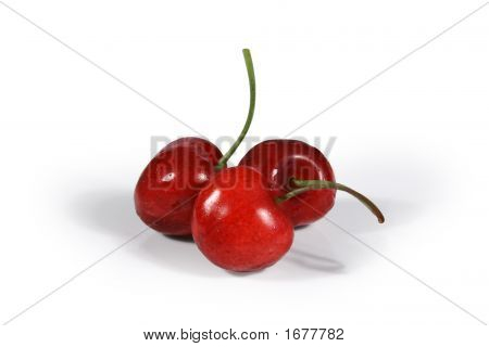 Three Juicy Cherries
