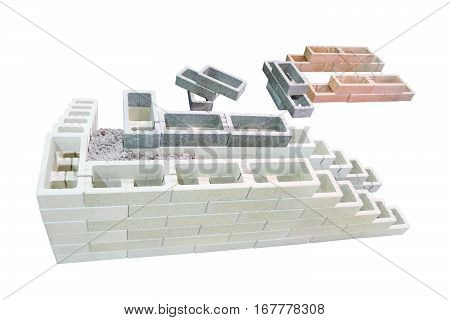 Modern technology of construction of private homes with heat-saving double-walled hollow bricks and cement with filler