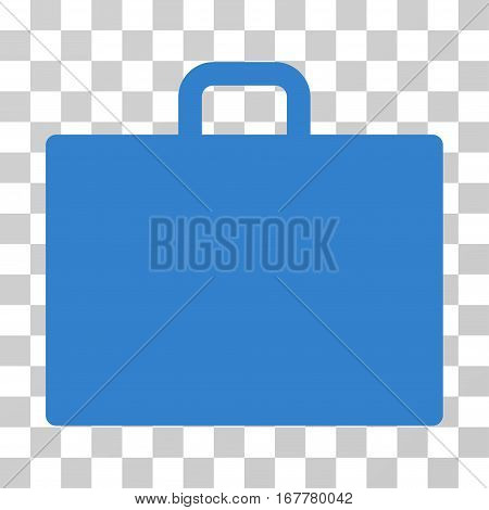 Case icon. Vector illustration style is flat iconic symbol, cobalt color, transparent background. Designed for web and software interfaces.