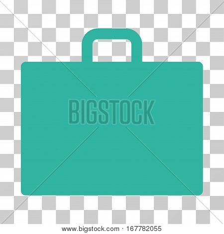Case icon. Vector illustration style is flat iconic symbol, cyan color, transparent background. Designed for web and software interfaces.