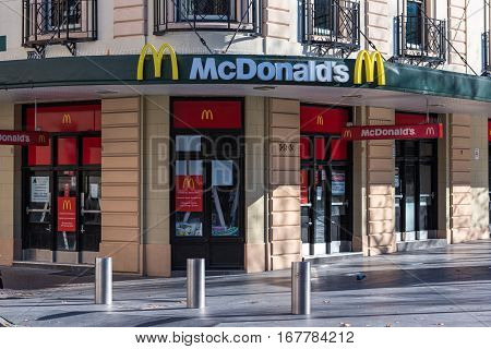 Fast Food Restaurant Mcdonalds In Sydney Cbd