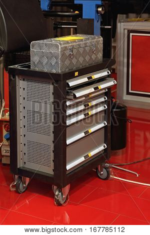 Service Garage Tools Box Cart With Drawers