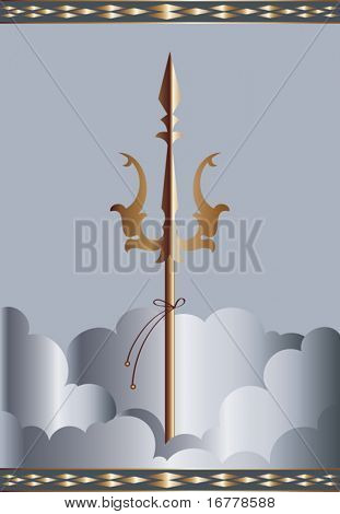 Trishul (trident of God Shiv) trisula, Thai: trisun) is a type of traditional Indian trident, usually a Hindu religious symbol