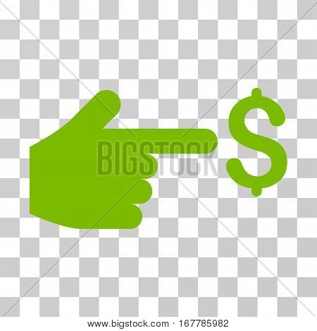 Dollar Index icon. Vector illustration style is flat iconic symbol, eco green color, transparent background. Designed for web and software interfaces.