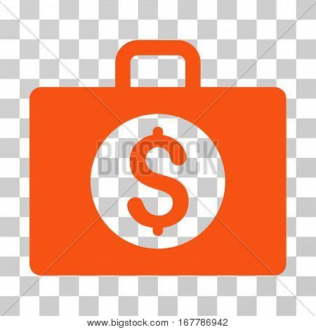 Accounting Case icon. Vector illustration style is flat iconic symbol, orange color, transparent background. Designed for web and software interfaces.