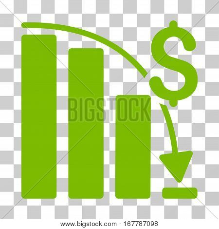 Epic Fail Trend icon. Vector illustration style is flat iconic symbol, eco green color, transparent background. Designed for web and software interfaces.