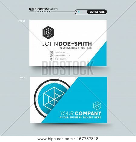 A clean and mininal business card design. vector illustration.