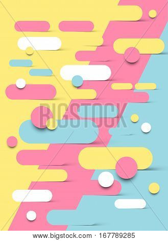 Abstract background design with shapes melting into each other. Vector illustration