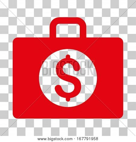 Accounting Case icon. Vector illustration style is flat iconic symbol, red color, transparent background. Designed for web and software interfaces.