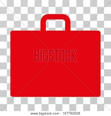 Case icon. Vector illustration style is flat iconic symbol, red color, transparent background. Designed for web and software interfaces.