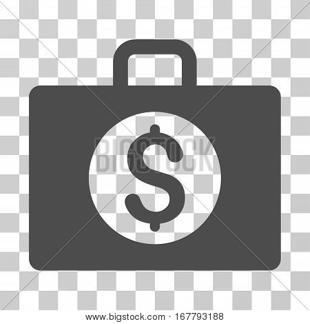Accounting Case icon. Vector illustration style is flat iconic symbol, gray color, transparent background. Designed for web and software interfaces.