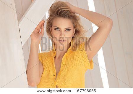Natural Beautiful Blonde Woman .