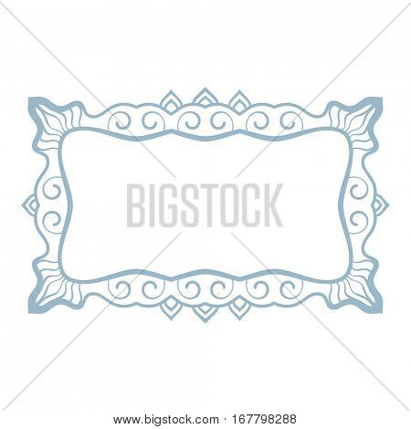 Rectangular frame Isolated design element