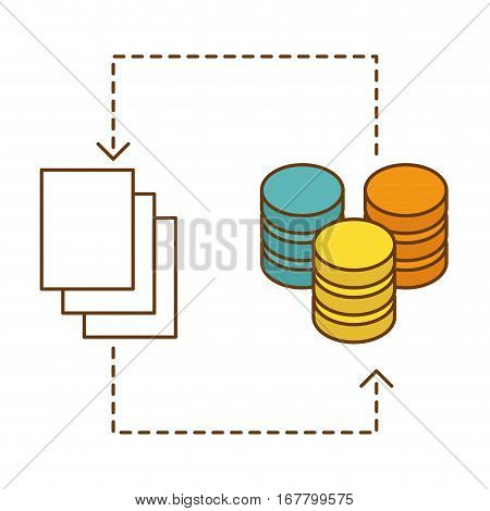 distributed database icon image design, vector illustration