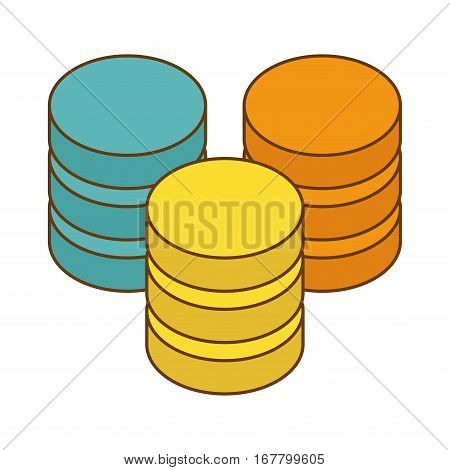 database hosting icon image design, vector illustration