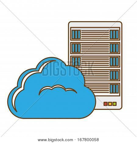 data hosting optimization application related icon, vector illustration
