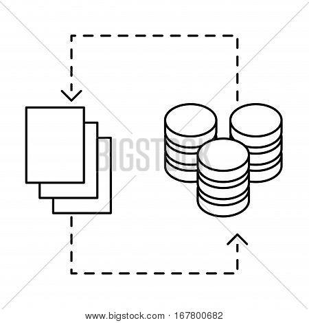 figure distributed database icon image design, vector illustration