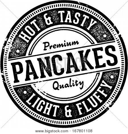Vintage Pancakes Menu Design Stamp