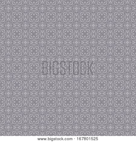 Seamless abstract geometrical greyscale pattern with black ornaments on white background