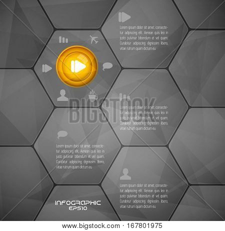Vector design of infographic template