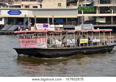 Ferry Boat At Chao Phraya River