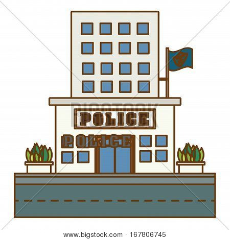 police station icon image design, vector illustration