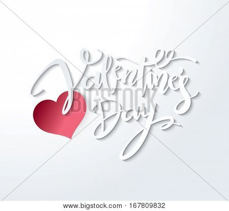 Happy Valentines Day Lettering Vector design