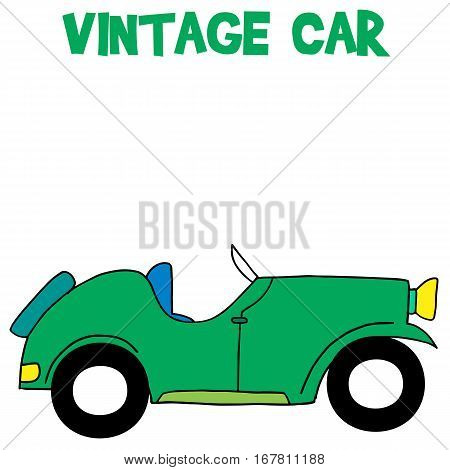 Vintage car of vector art collection stock