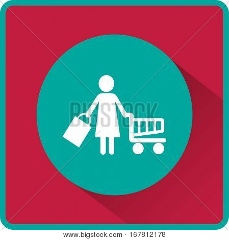 Flat icon. Shopping.