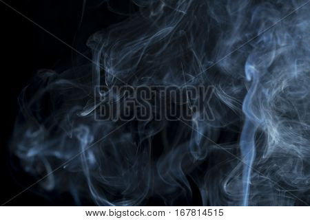 abstract of smoke flow on black background