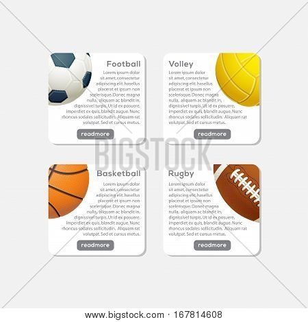 Sport Collection Infographic Website Header, This design is suitable for a brochure, banner or poster