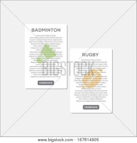 Sport Collection Template Infographic Website Header, This design is suitable for a brochure, banner or poster