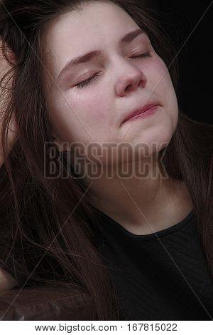 Sad Girl Crying Tears