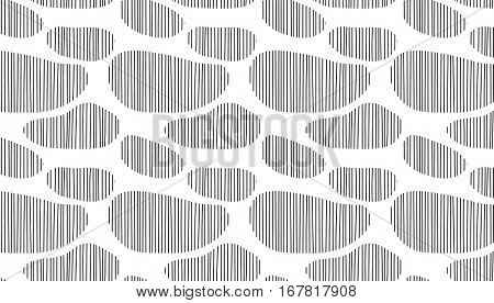 Abstract seamless pattern with lines and spot. Black and white cow background. eps10