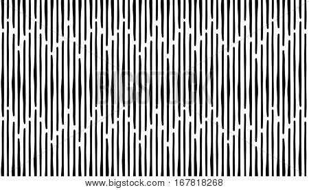 Abstract hand draw seamless patterns with lines. Black stripes on white background. eps10