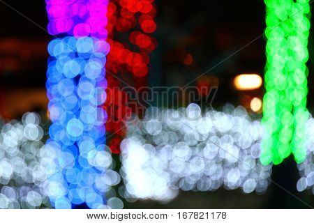 Bokeh background Valentine's Day New Year's Day.