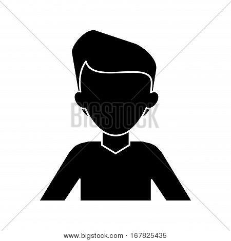silhouette man young tshirt stylish vector illustraton eps 10
