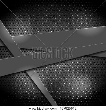 Abstract metal texture tech background. Matt chrome tech vector design